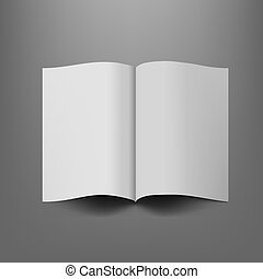 Softcover Booklet With Shadow On Dark Background