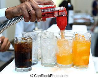 Softdrink dispensor in party room