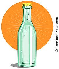 softdrink, flasche, limette