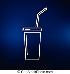 Softdrink icon on blue background