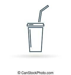 Softdrink icon on white background
