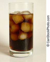 Softdrink - A close up view of a cold softdrink