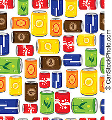 softdrink seamless pattern