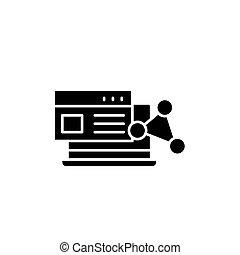 Software black icon concept. Software flat vector symbol, sign, illustration.