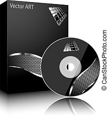Software box - Software black box and disc isolated on white...