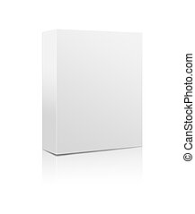 Software box - 3D rendering of a blank software box