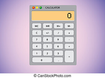 Software calculator on desktop wallpaper - illustration