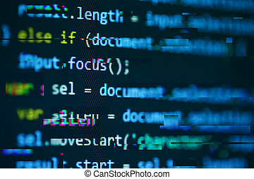 Software computer programming code background