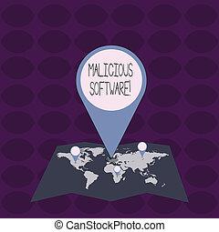 software., conceito, apontar, texto, dano, computador, ...