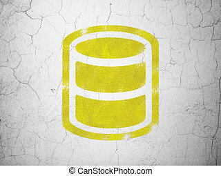 Software concept: Database on wall background