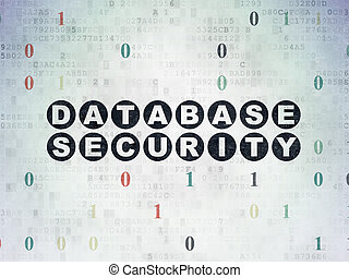 Software concept: Database Security on Digital Paper background