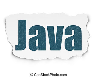 Software concept: Java on Torn Paper background