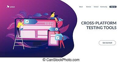 software, concept, kruist-platform, page., tussenverdieping