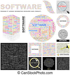 software., concetto, illustration.