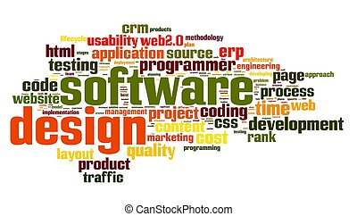 Software design concept in tag cloud
