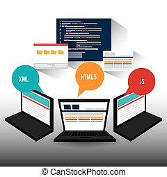 Software design. - Software design over white background,...