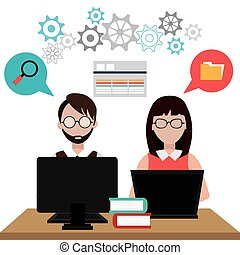Software design. - Software design over white background, ...