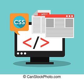 software development design, vector illustration eps10 ...