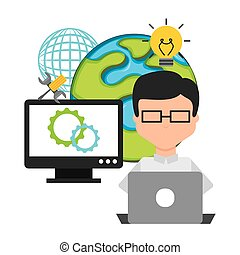 software development design, vector illustration eps10...