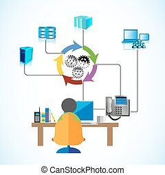 Software Development - Vector illustration of a Software...