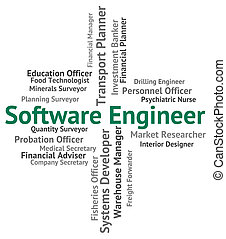 Software Engineer Means Work Text And Position