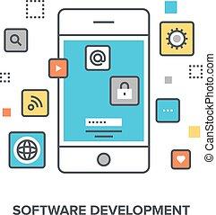 software, entwicklung, begriff