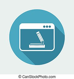 Software for design - Vector icon