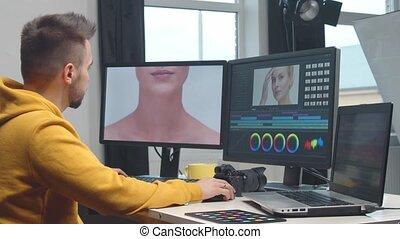 software, freelance, colorist, gebruik, videographer,...