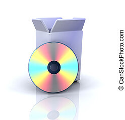 Software icon - 3D computer icon for software