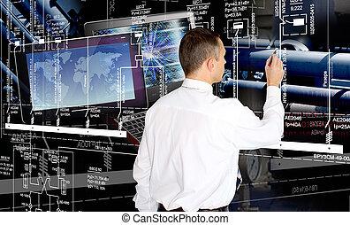 software, industrial, geração, engenharia, fabricando, tecnologia, engineer.developer.designing