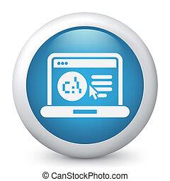 Software language webpage icon - Illustration of pc...