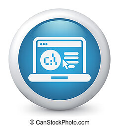 Software language webpage icon - Illustration of pc...
