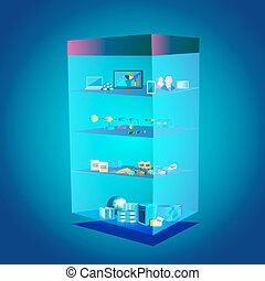 Software Layered Architecture - Vector Illustration of...