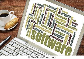 software, parola, nuvola