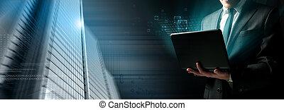 Software programmer concept - Modern concept of a software...