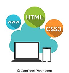 software programming design, vector illustration eps10 ...