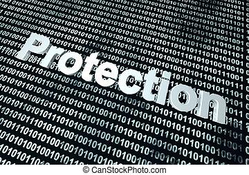 software, proteção, fundo