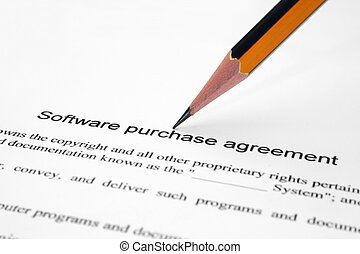 Software purchase agreement