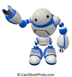 Software Security Concept Robot Waving Right Side - Software...