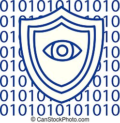 Software security,anti virus line icon concept. Software...