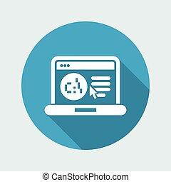 software, sprache, webpage, ikone