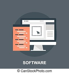 Software - Vector illustration of software flat design...