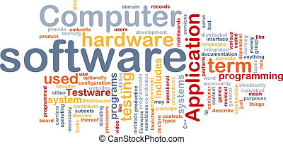 Software word cloud - Word cloud concept illustration of ...