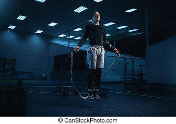 soga, activo, entrenamiento, entrenamiento, hombre