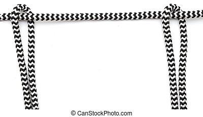 soga, marco, hecho, aislado, blanco