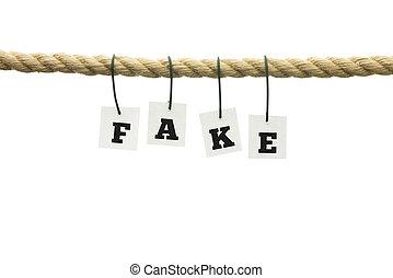 soga, palabra, -, suspendido, falsificación