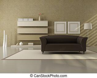 Minimalista stanza vivente minimalista moderno for Soggiorno minimalista