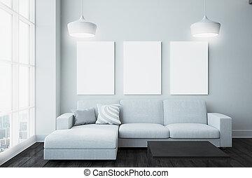 soggiorno, contemporaneo, manifesto