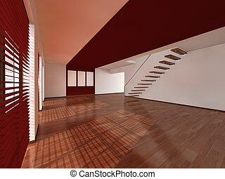 soggiorno, interno, architettura