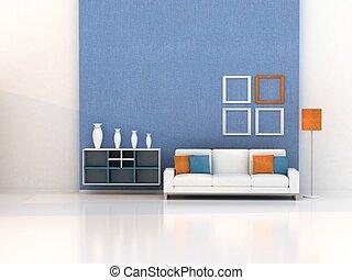 soggiorno, stanza moderna